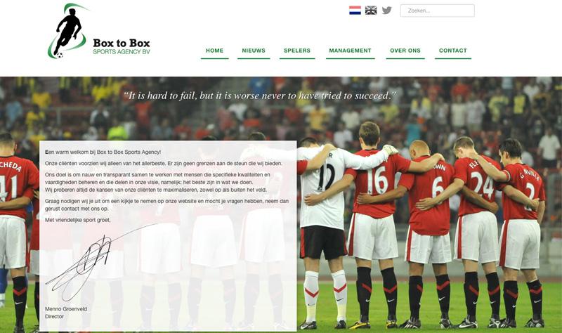 Website Box to Box Sports Agency