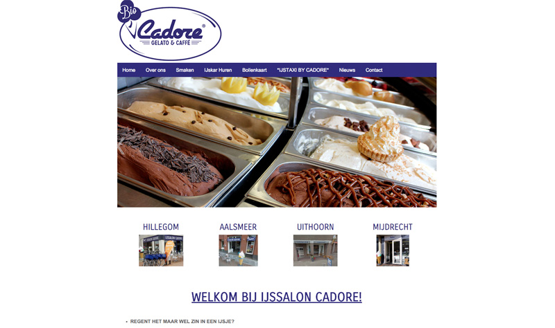 Website IJssalon Cadore