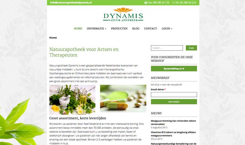 Website Natuur Apotheek Dynamis