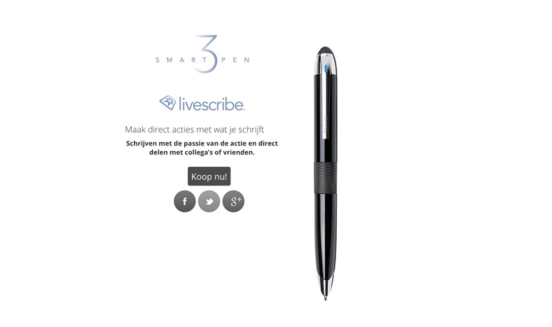 Livescribe 3 Smartpen voor iPhone of iPad