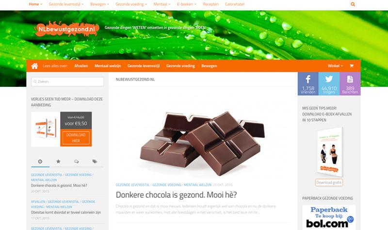 Website NLbewustgezond.nl, een gezonde levensstijl