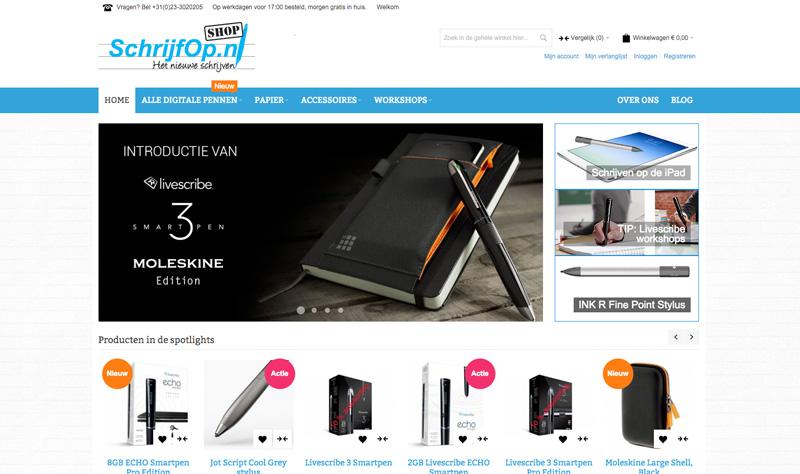 Webshop SchrijfOpShop.nl met digitale pennen