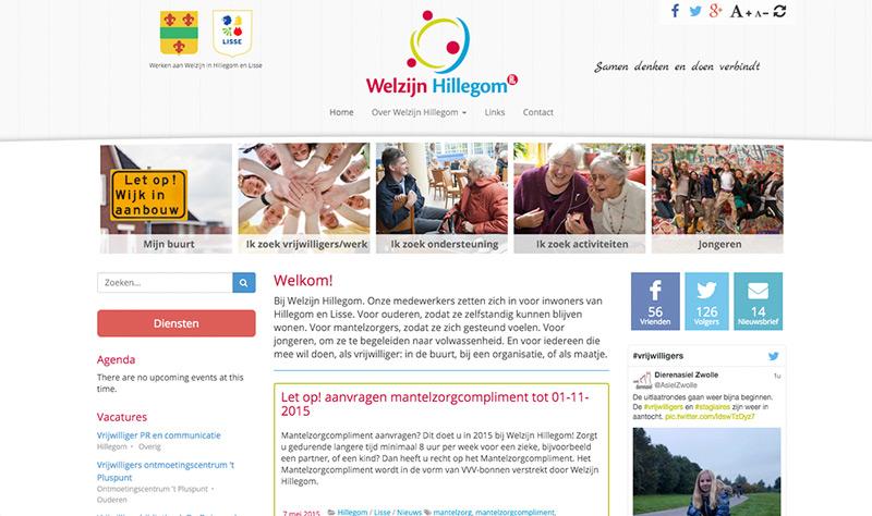 Website Stichting Welzijn Hillegom