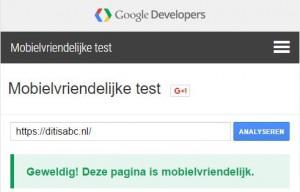 mobiel vriendelijk website google