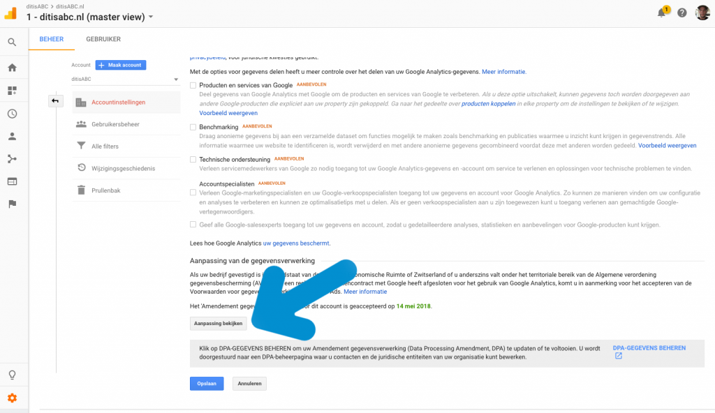 verwerkersovereenkomst Google