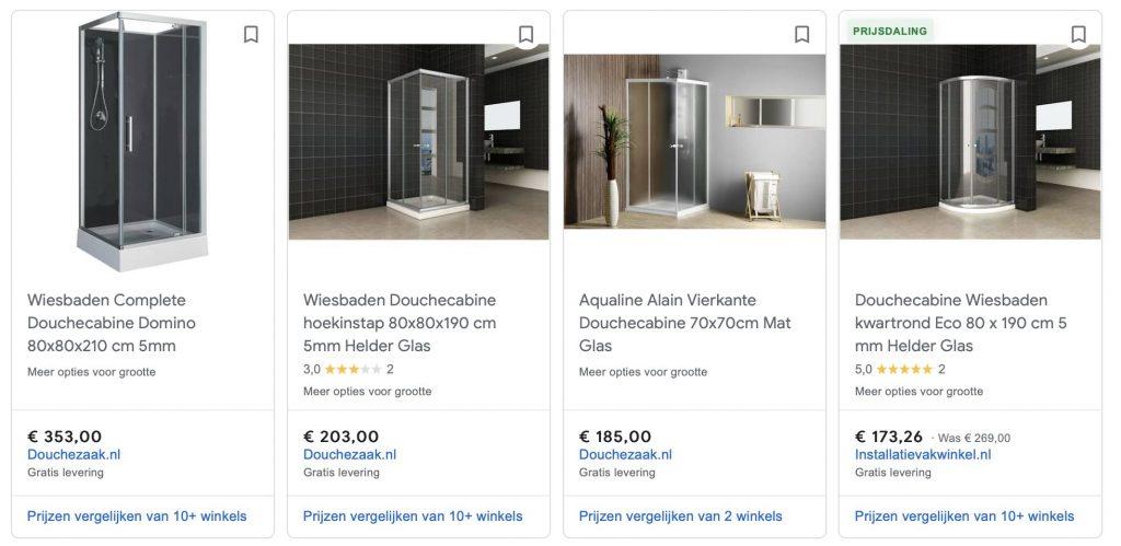 Douchezaak Google Shopping betaald, maar dit wordt binnenkort gratis en organic